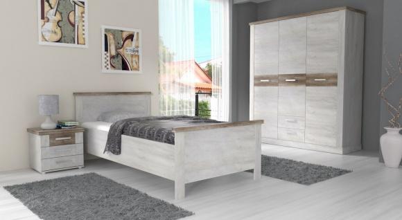 Schlafzimmer komplett Pinia Weiß Hedda 3-teilig