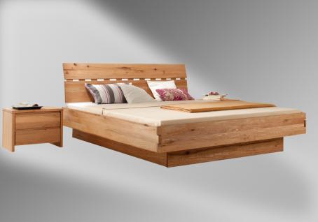 Massivholz-Bett Mix aus Wildeiche 180x200