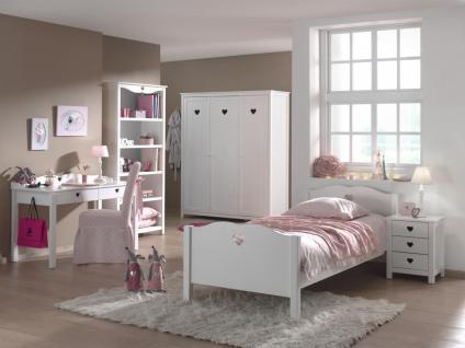 Kinderzimmer Set Albin 5- teilig in Weiß MDF