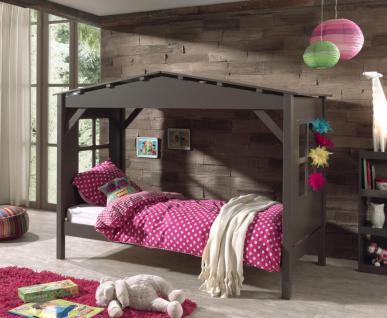 Kinderbett-Haus Vilvi in Kiefer teilmassiv taupe