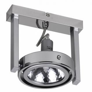 Design Deckenlampe Spot Alu Chrom 1 flammig G9 52W EEK: C