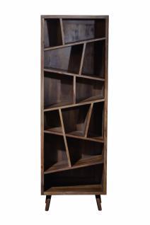 Bücherregal Vincia mit 12 Fächern aus Sheeshamholz