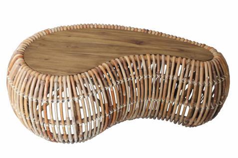 Couchtisch Nexis 120x45 aus Rattanpalme