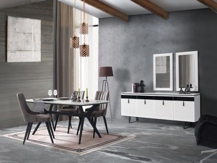 Esszimmer komplett Yilma mit Esstisch & 4 Stühlen