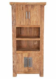 Bücherregal Neum mit 4 Türen aus recyceltem Teakholz