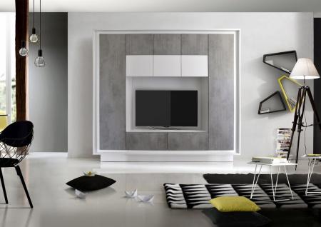 Wohnwand in Weiß Beton Heaven 1-teilig
