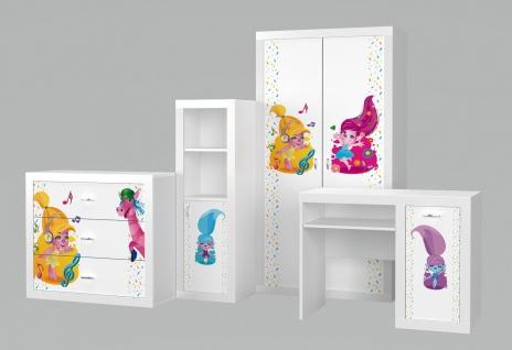 Kinderzimmer Set Phil Troll in Weiß 4-teilig