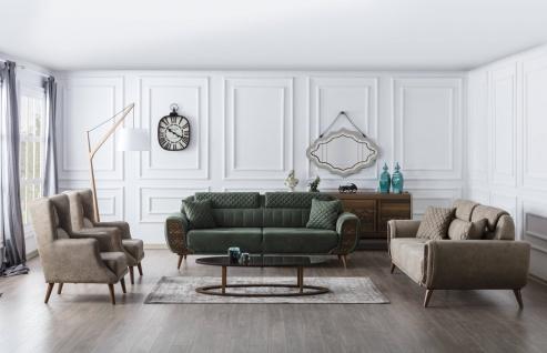 Couch Set Vega mit Schlafsofas und zwei Sessel