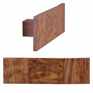 Massivholz Wand Handtuchhalter 50 cm Sheesham