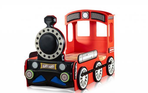 Lokomotive Kinderbett Rot inklusive Matratze