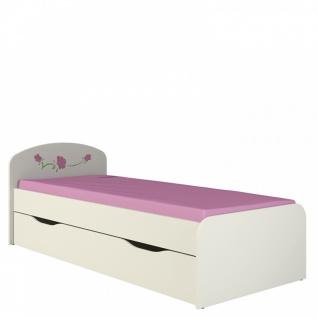 Kinderbett mit Bettkasten in Creme Rosalia 80x190