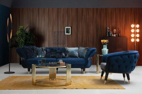 Sofa Londos 3-Sitzer Grau in edlem Design - Vorschau 3