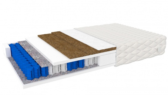 Taschenfederkern Matratze Arosa mit Kokos 80x200