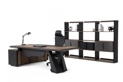Ovali Schreibtisch Set 3-teilig Origami ll Schwarz