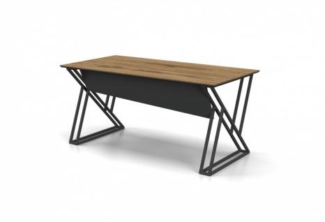 Schreibtisch Buton mit Alluminium Gestell 140x80