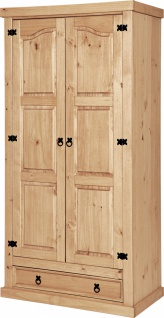Kleiderschrank Dustin Pinie massiv mit 2 Türen
