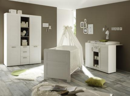 Babyzimmer Set Caty 3-teilig Pinie Weiß
