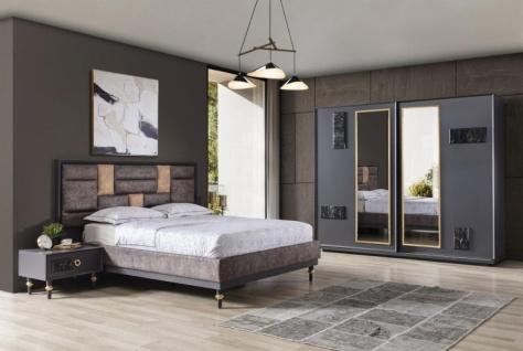 Design Schlafzimmer Grau Braun Galya 4-teilig