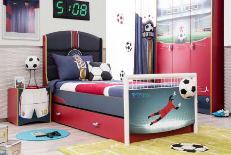 Cilek Football Kinderzimmerset 3-teilig in Rot und Blau