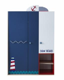 Kleiderschrank New Ocean 3-türig im Seefahrer-Look