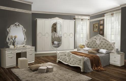 Schlafzimmer Set Letizzia 180x200 4-türiger Schrank