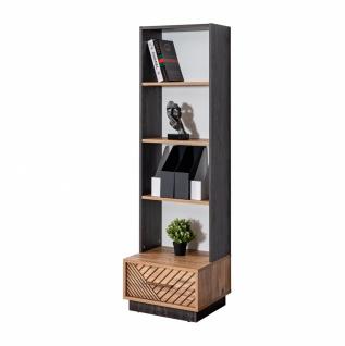 Odacix Bücherregal Atlantik mit Schubkasten in Schwarz