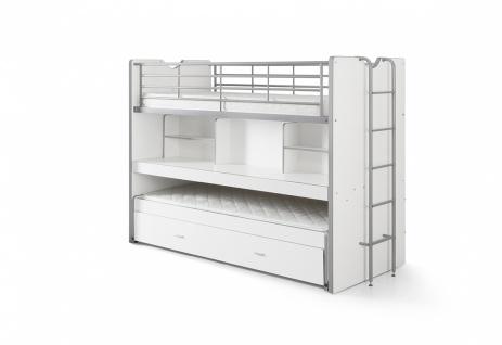 Bonny Hochbett mit Schreibtisch 90x200 in Weiß