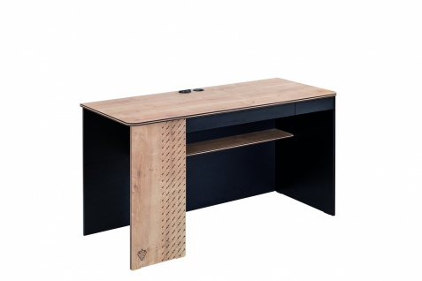 Cilek Black Schreibtisch mit Schubkästen und USB