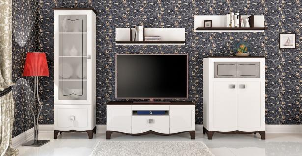 Wohnwand Kombi Landhaus Tiffany 5-teilig
