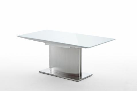 Halia Esstisch 180x90 Ausziehbar Hochglanz Weiß