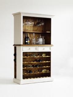 Bode Buffet Mit Weineinsatz Landhausstil Weiss Massiv