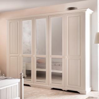 Kleiderschrank Rusticus in Pinie Weiß 4 Türen