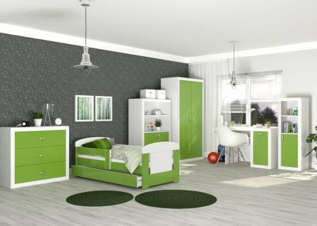 6-teiliges Jugendzimmer Set Phil Weiß Grün
