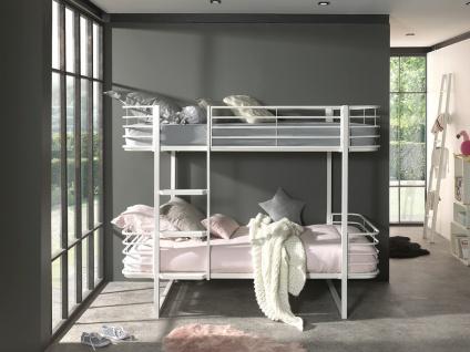 Etagenbett aus Metall Weiß Olia 90x200