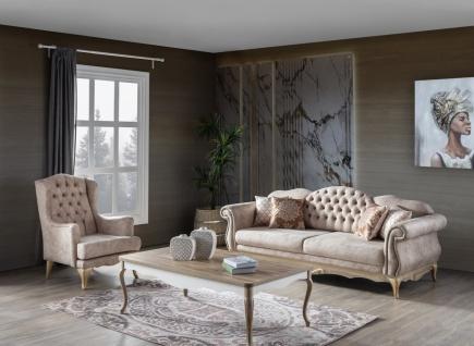 Sofa Set Balat 3-teilig mit Ohrensessel und Schlafsofa