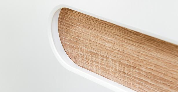 Sideboard Weiß mit Schubkästen Leonardo 3-türig - Vorschau 2