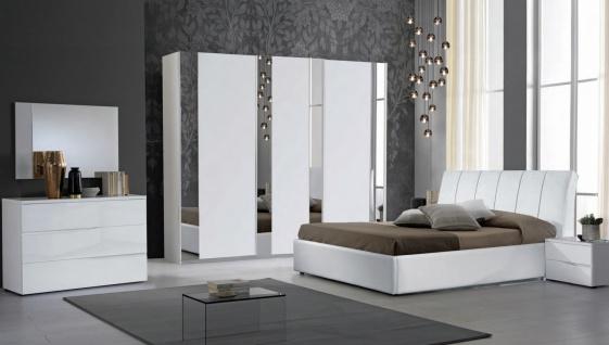 Schlafzimmer Serie Frozen 180x200 in Weiß/Silber
