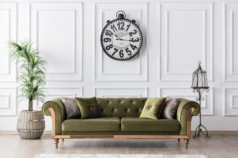 Design Couch 3-Sitzer Lifa in Grün in Wildleder Optik