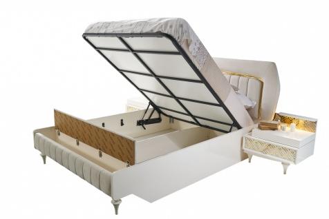 Schlafzimmer Bett Pena mit Stauraum & Sitzbank