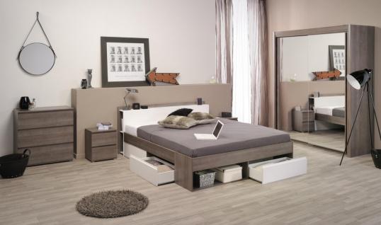 Parisot Most Schlafzimmer modern 4-teilig 203x217x61 und 140x200