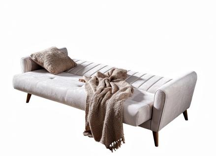 Wohnzimmer Couch Set Maya mit Klappsofa Creme - Vorschau 2