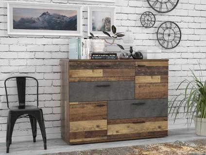 Kommode Ulrika 2-türig Old Wood Betongrau