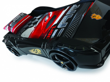 Autobett Titi in Schwarz mit LED Beleuchtung und Sound
