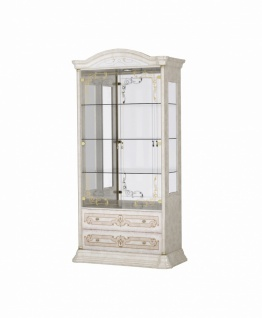 Barock Möbel Julianna Vitrine 2-türig in Beige