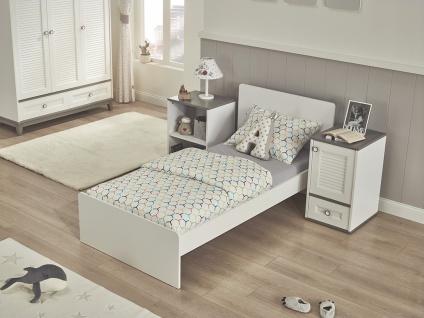 Almila Jugendbett 80x180 cm Mia mit Nachtkommoden