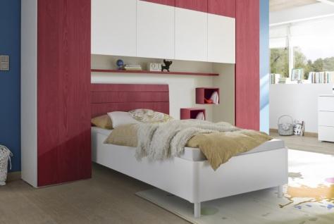 Design Jugendbett Space Kopfteil Rot 120x200