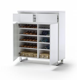 Schuhschrank Telma 2-türig in der Farbe Weiß MDF - Vorschau 2
