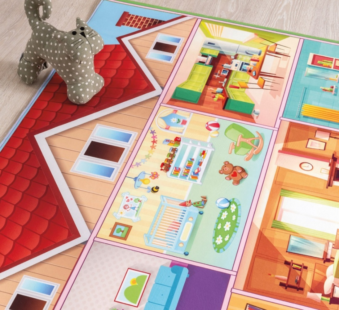 Cilek Kinder Spielteppich Play House 100x150
