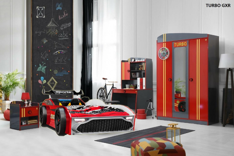 Autobett Kinderzimmer Rennwagen Turbo GTX GT18 Rot - Kaufen bei ...
