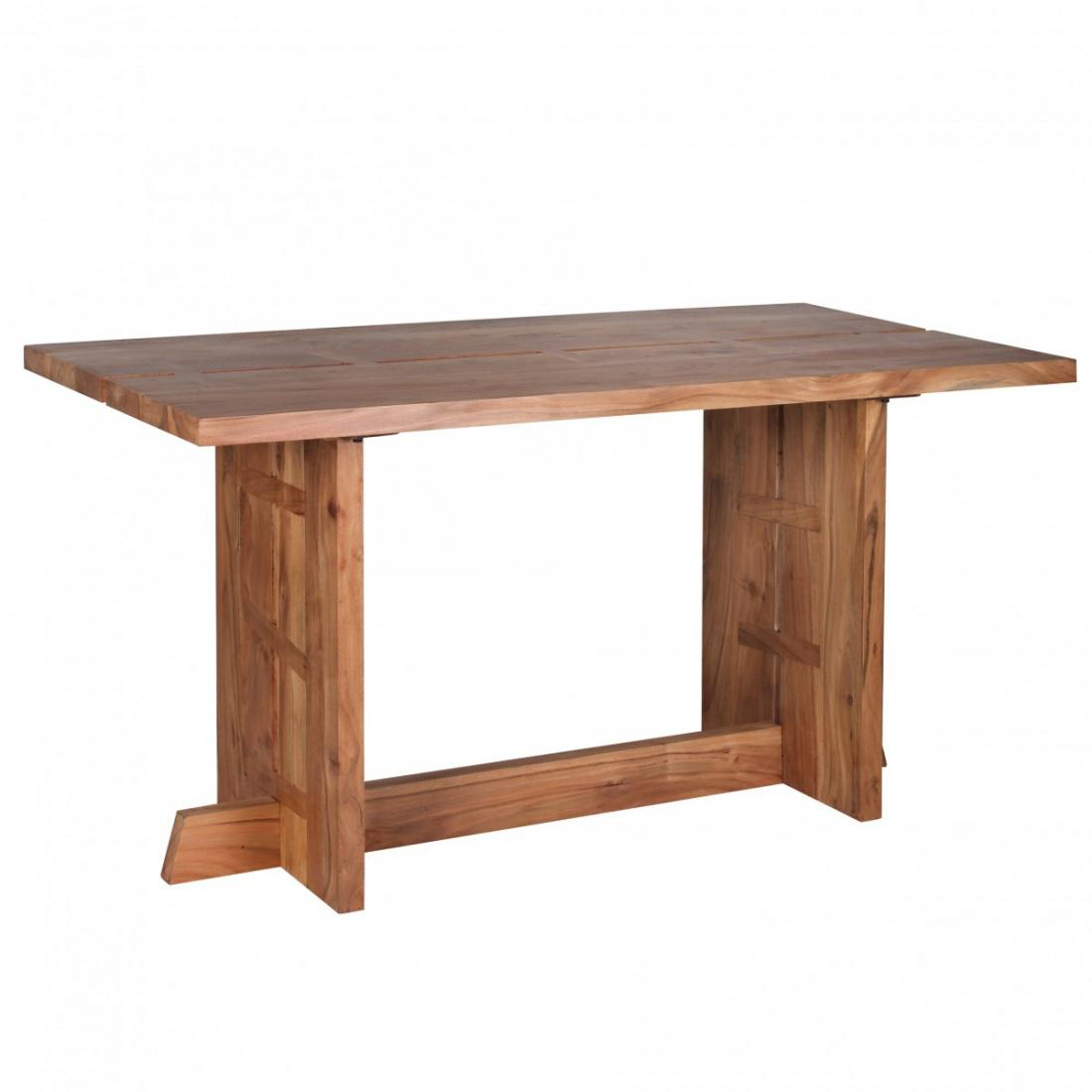 Design esstisch massivholz akazie k chentisch 140 x 80 cm for Esstisch massivholz design